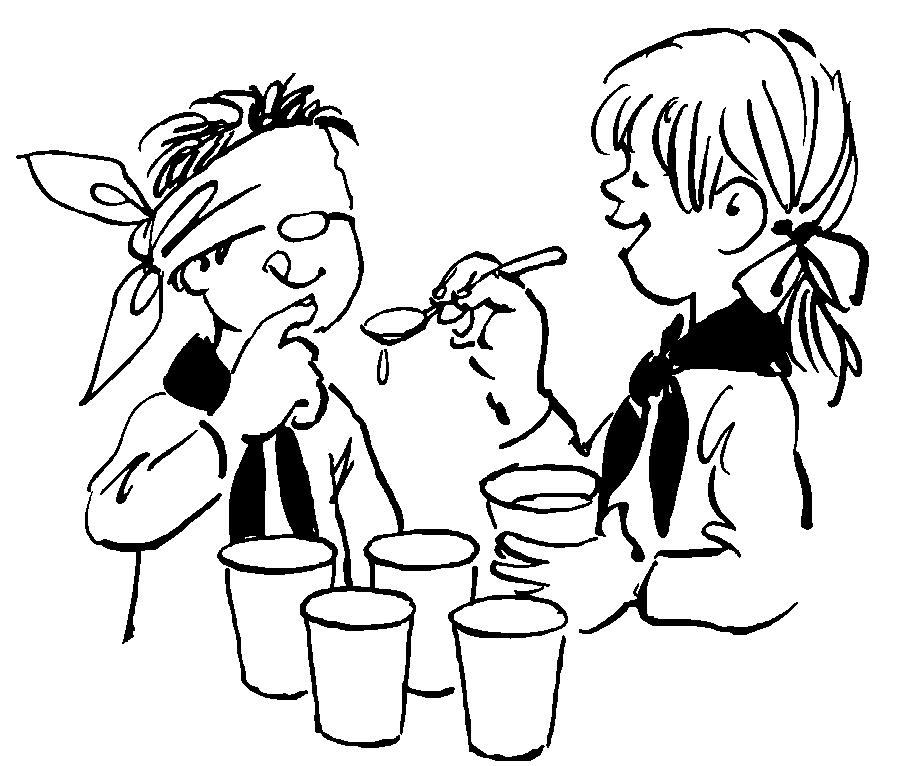 Børn anvender ofte deres fantasi i leg. når spejderne skal lære